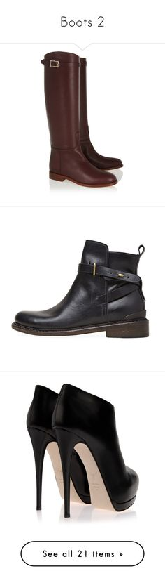"""""""Boots 2"""" by mon-ami-louis ❤ liked on Polyvore featuring shoes, boots, knee boots, short heel boots, almond toe boots, small heel boots, low heel knee high boots, ankle booties, black boots and ankle boots"""
