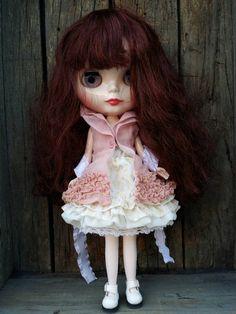 Vestido romantic 2 piezas con medias dress para Blythe, Pullip, Pure neemo