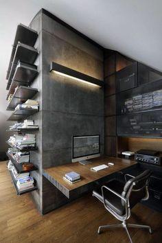 Small Home Office Ideas For Men – Masculine Interior Designs www.bocadolobo.com #bocadolobo #luxuryfurniture #interiodesign #designideas