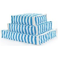 Fresh American Trimaran Stripe Turquoise & White Indoor / Outdoor Wouf™ (3 Sizes)