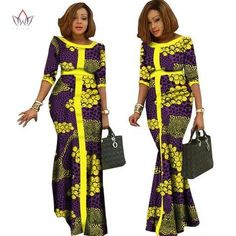 2017 afrikaanse kleding voor vrouwen Vintage Maxi Dress Dashiki african dresses for women in african clothing other WY1146 Latest African Fashion Dresses, African Print Dresses, African Dresses For Women, African Print Fashion, African Attire, African Women, African Traditional Dresses, Afro, Glamour