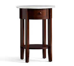 Julia Bedside with Marble Top- Mahogany