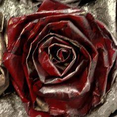 Paper rose DIY from pininterest.