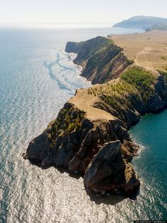 Cape Khoboy - the northernmost point of Olkhon Island (the largest and only inhabited island on Lake Baikal in Siberia, Russia)