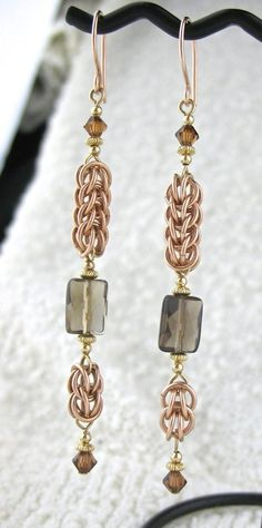 SALE 20% OFF Long Rose Goldfill Mixed Metals Chainmaille