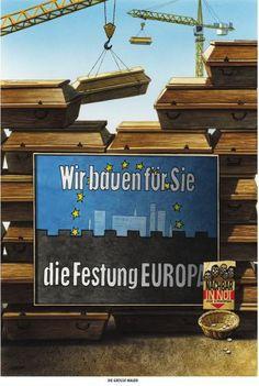 """Haderer-Karikatur vom 2. November 2013: """"Die große Mauer"""" (Bild: Haderer)"""