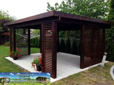What Is Pergola Roofing Outdoor Garden Rooms, Pergola Garden, Patio Gazebo, Pergola Swing, Diy Pergola, Outdoor Living, Pergola Attached To House, Pergola With Roof, Wooden Gazebo
