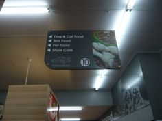 Aisle Signage Store Signage, Retail Stores, Hanging Signs, Inspiration, Food, Design, Visual Identity, Bag Packaging, Biblical Inspiration