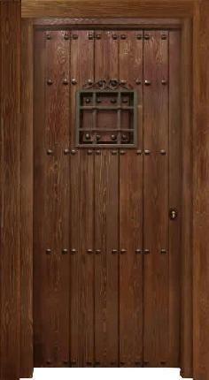Conely puertas de madera metal y forja r sticas for Puertas rusticas exterior