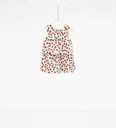 Double layer cherry print dress-DRESSES AND JUMPSUITS-BABY GIRL | 3 months-3 years-KIDS | ZARA United States