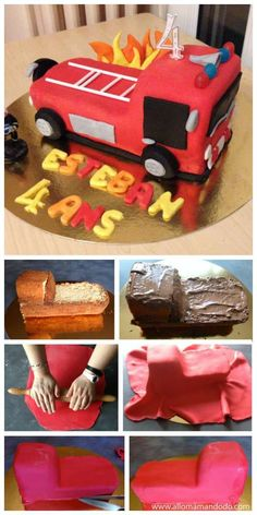 13 birthday cake ideas without mold to make for your kids – Page 2 of 2 – Ideas - Birthday Cakes For Men, Homemade Birthday Cakes, Men Birthday, Fireman Sam Cake, Birthday Cake Decorating, Easy Cake Recipes, Girl Cakes, Desserts, Grands Parents