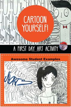 Art project that teaches kids how to turn themselves into a cartoon! Step by step tutorial, teaching guide, and more.