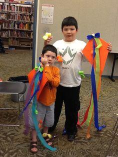 Kites made at Rockwood Library.