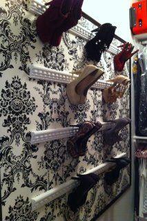 DIY holder for high heels - super easy!
