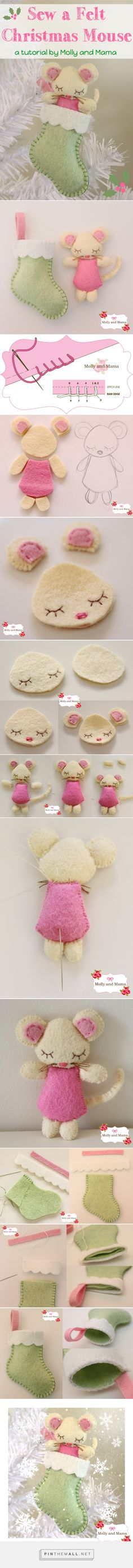 Sew a Felt Christmas Mouse - Molly and Mama - created on 2015-11-15 22:38:59