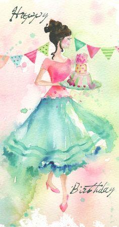 Birthday Celebrations - Greeting Card Design