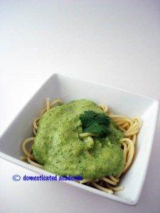 Spinach Cilantro Cauliflower AlfredoSauce