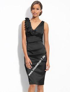 Einteiliges Kurzes Schwarzes Abendkleid