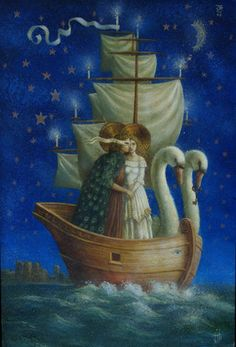 """Jake Baddeley                                             """"The peacock feathered cloak"""".                             Oil on panel, 2009."""