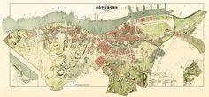 Historic map of Goteborg - 1888