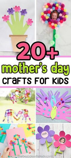 Mothers Day Crafts for Kids by thebestideasforkids.com See all of our favorite Mother's Day Craft videos here:  But beyond handprint crafts we have lots of Mothers Day Crafts for Kids here and we're sure you'll love some of these ideas!