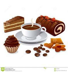 Illustration about Illustrations of coffee and cakes. Illustration of chocolate, sweet, illustration - 35185995 Coffee Barista, Coffee Cake, Cheap Coffee Maker, Cake Vector, Cake Stock, Cake Illustration, Coffee Vector, Best Coffee, Melting Chocolate