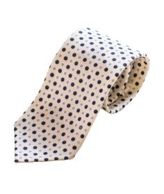 White Mini Flower Printed Silk Tie by The Versatile Gent
