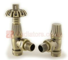 Rustic brass thermostatic radiator valves, just right for your cast iron radiators Traditional Radiators, Radiator Valves, Cast Iron Radiators, Designer Radiator, Antique Brass, Gothic, Rustic, Antiques, Stuff To Buy