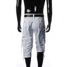 Men's Casual Multi-pocket Large Size Cargo Shorts - US$20.89