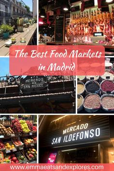 A guide to the best food markets in Madrid - Foodie Paradise! Whether for Tapas or a full meal there is something to delight everyone! Eat with the locals!: