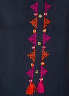 Terrific Pictures Embroidery Designs for kurtis Strategies Embroidery is actual. Terrific Pictures Embroidery Designs for kurtis Strategies Embroidery is actually a stunning appro Embroidery On Kurtis, Kurti Embroidery Design, Embroidery Neck Designs, Hand Embroidery Videos, Hand Work Embroidery, Embroidery Flowers Pattern, Hand Embroidery Stitches, Embroidery Fashion, Beaded Embroidery