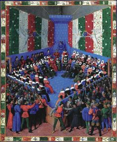 FOUQUET, Jean Boccaccio: On the Fates of Famous Men and Women 1458 Manuscript (Ms. gallicus 400 x 290 mm Bayerische Staatsbibliothek, Munich Medieval Clothing Men, Jean Fouquet, The Decameron, Isaiah 25, Giovanni Bellini, Web Gallery, Renaissance Paintings, Renaissance Men, European Paintings