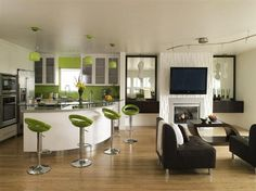 Home Interior Decoration & Design Project by Lori Dennis | cheer green furnishing urban kitchen