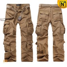 Belted Cargo Pants Trousers for Men CW140285  Cool belted cargo pants trousers for men with 100% cotton fabric, our mens cargo pants with belt available in 4 colors is your good looking casual trousers!