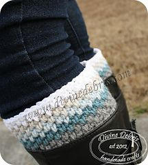 Willow Boot Cuffs ~ Free crochet pattern by Divine Debris