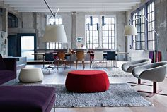 Great color palette with the grays, reds and purples