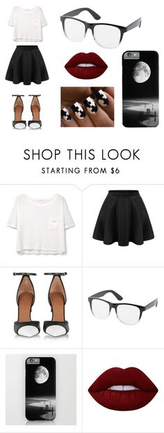 """""""Black and White iz here again"""" by juanabennett ❤ liked on Polyvore featuring MANGO, Givenchy, Charlotte Russe and Lime Crime"""