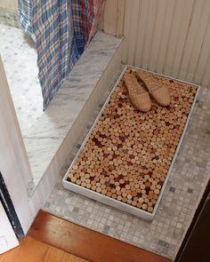 Google Image Result for http://blog.krrb.com/wp-content/uploads/2011/09/upcycled-cork-bath-mat.jpg
