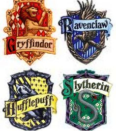 We Can Decoupage Harry Potter House Emblems