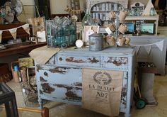 Love the dresser and use of baskets 7 such for collections of items
