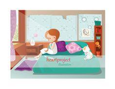 Rayos de Sol: Poster imprimible de ilustración por heartproject