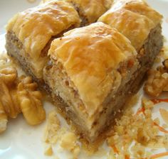 Baklava/ One of my favorite desserts that I never eat!! Maybe for Christmas this year!