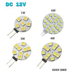 Wholesale 1W/3W/4W/6W G4 LED 5050 SMD 360 Degree White Car Marine Camper RV led Light Lamp Bulb DC 12V  free shipping 1pcs/lot