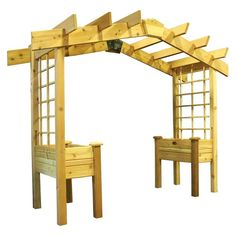 The Grownomics Pergola Planter will be a beautiful addition to your garden or yard. Give your plants an opportunity to crawl up this trellis and reach the sun. This would be perfect in any garden, patio or deck. This timeless piece is made of 100% Western Red Cedar and will remain a lasting part of your outdoor décor for years to come.