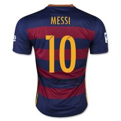 - Brand NEW WITH TAGS - Replica Barcelona Soccer Jersey With Messi # 10 A replica version of an official team jersey just often has a looser cut creating a more comfortable fit for fans. A replica jersey may also have different technologies, contraction and materials to keep costs lower for fans who don't the elite performance benefits that the professionals demand. - Size available S, M, L, XL Size Chart in cm: S: (Length68 x Width48) M: (Length72 x Width52) L: (Length 73 x Width 55) XL…