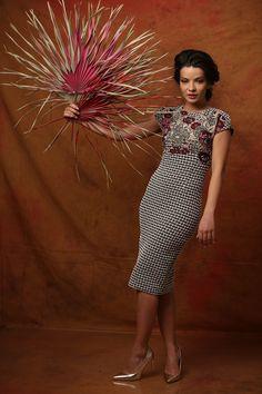Feel free to show your beauty! Fall 17 | YOKKO #cotton #brocade #viscose #flowers #dress #daytime #fashion #fall17 #yokko #madeinromania