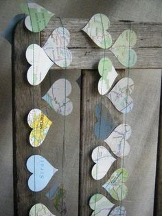 made me think what about a map bunting garland for a celebratory geography display?!