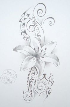 Flower Tattoo Drawing on Polynesian Maori Style Background More, Tattoo Models Tattoos Bein, Body Art Tattoos, Small Tattoos, Sleeve Tattoos, Tatoos, Maori Tattoo Meanings, Maori Tattoo Designs, Tattoos With Meaning, Polynesian Tattoos Women
