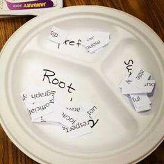 Sorting prefixes, suffixes & root words