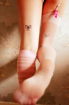 Tie My Bow: Sweet and dainty; I don't really like leg tattoos but these are lovely